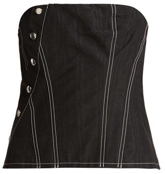 Marques Almeida Marques'almeida - Snap Cotton Blend Corset - Womens - Black