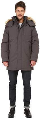 Andrew Marc Niagra Down Filled Oxford Twill Parka w/ Faux Fur Trimmed Removable Hood Men's Coat