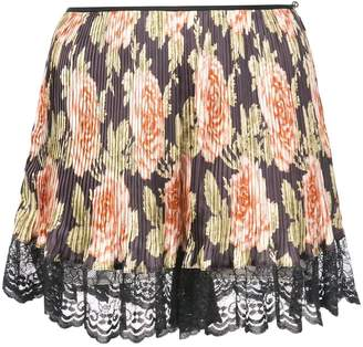Paco Rabanne floral pleated lace pajama shorts
