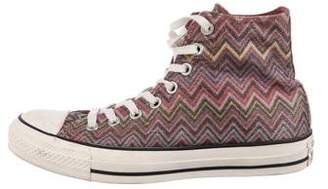 Converse Missoni x Lace-Up High-Top Sneakers