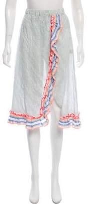 Lemlem Striped Knee-Length Skirt