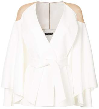 Balmain sheer shoulder jacket