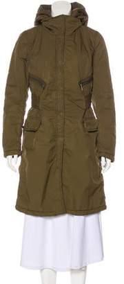 ADD Knee-Length Hooded Coat