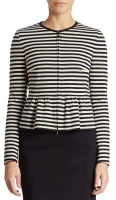 Akris Striped Peplum Jacket