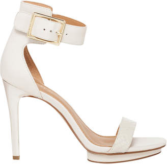 Calvin Klein Vable Soft White Cow Silk Sandal