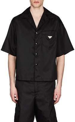 Prada Men's Nylon Gabardine Bowling Shirt