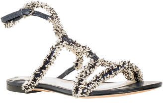 Max Studio vocal : fringed ribbon flat sandals