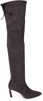 Stuart Weitzman Asphalt Natalia Suede Over-the-Knee Boots