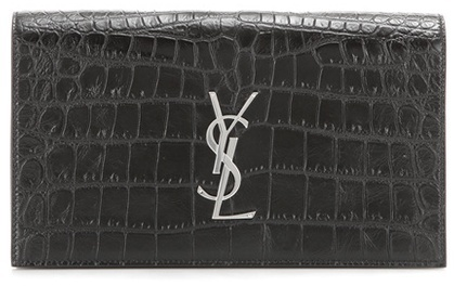 Saint Laurent Classic Monogramme embossed leather clutch