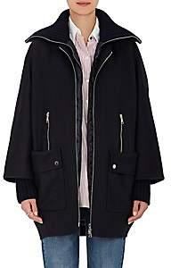 Moncler Women's Acanthus Wool-Cashmere 3-in-1 Coat-Navy