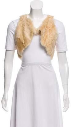 Etoile Isabel Marant Cropped Shearling Vest