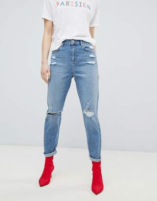 Miss Selfridge High Waist Slim Leg Jeans