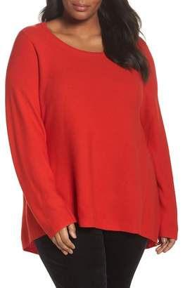 Eileen Fisher Organic Cotton High/Low Tunic (Plus Size)