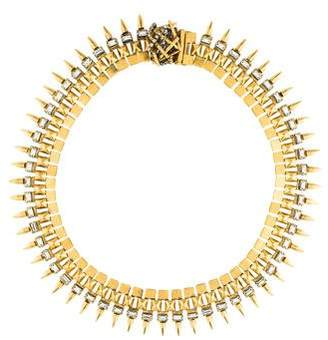 Erickson Beamon Crystal Spike Collar Necklace