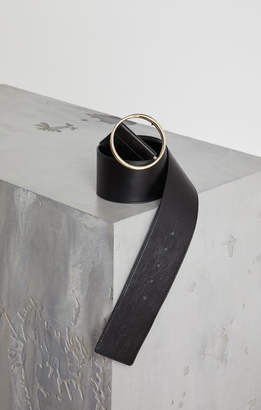 BCBGMAXAZRIA Nubuck Leather Panel Belt