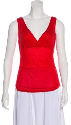 Diane von Furstenberg Sleeveless Surplice Neck Top