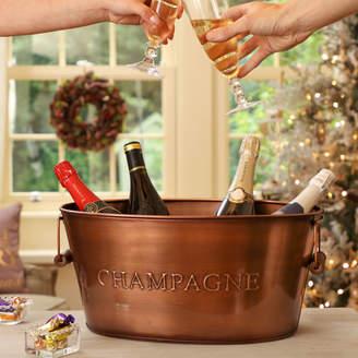 Dibor Personalised Contemporary Copper Champagne Bucket