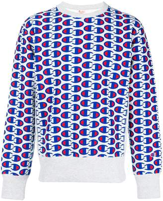 Champion all-over logo print sweatshirt