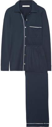 Skin - Penelope Pima Cotton Pajama Set - Navy