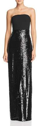 Aidan Mattox Strapless Sequined Gown - 100% Exclusive