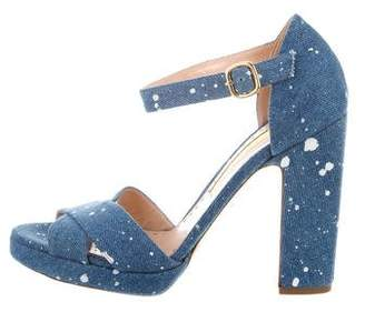 Rupert Sanderson Savannah Denim Sandals w/ Tags