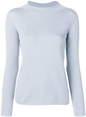 Max Mara long-sleeve fitted sweater