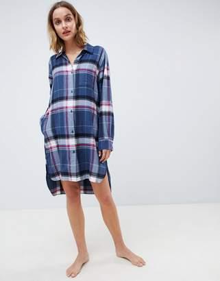 DKNY Flannel Boyfriend Pajama Shirt