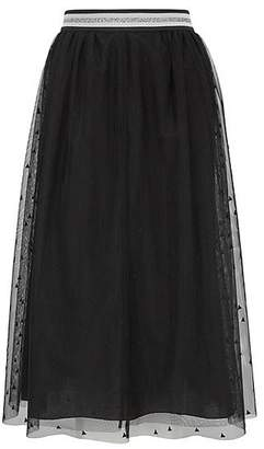 HUGO BOSS Midi-length A-line skirt in layered tulle