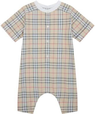 Burberry Check Playsuit