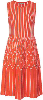 Lela Rose Pleated Skirt Dress