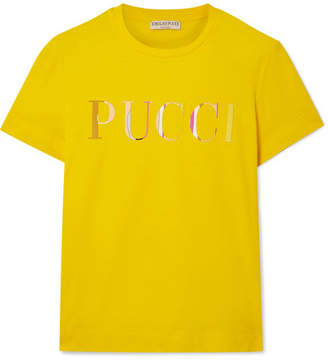 Emilio Pucci Appliqued Cotton-jersey T-shirt