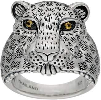 Jai JAI Sterling Silver Figural Leopard Ring