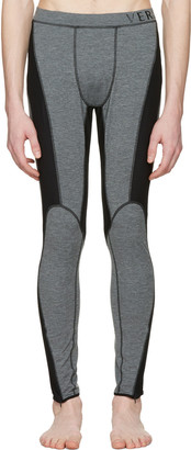 Versace Underwear Grey Panelled Leggings $525 thestylecure.com