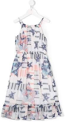 Tommy Hilfiger Junior logo print long dress