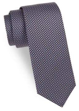 Kiton Mini Dot Silk Tie