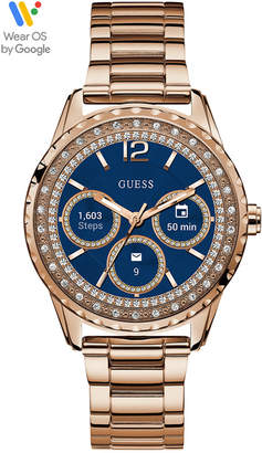 GUESS Connect Women Rose Gold-Tone Stainless Steel Bracelet Touchscreen Smart Watch 40mm