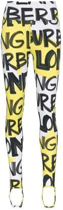 Burberry graffiti logo stirrup leggings