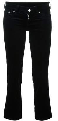 MM6 MAISON MARGIELA velvet cropped trousers