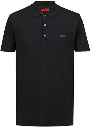 HUGO BOSS Slim-fit polo shirt with reverse-logo badge