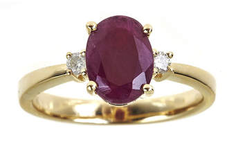 JCPenney FINE JEWELRY LIMITED QUANTITIES Oval Lead Glass-Filled Indian Ruby and Diamond-Accent Ring