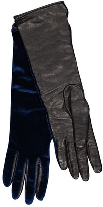 Non Signé / Unsigned Non Signe / Unsigned Blue Velvet Gloves