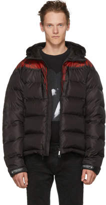 Marcelo Burlon County of Milan Black and Red Down Wings Jacket