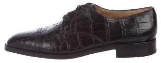 Gravati Alligator Derby Shoes