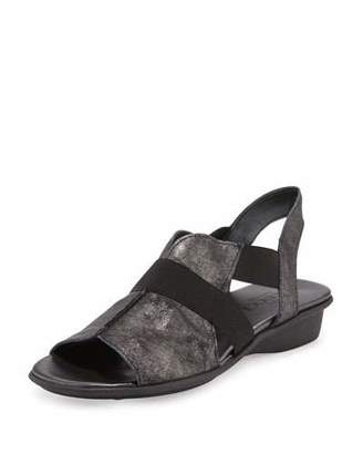 Sesto Meucci Estelle Strappy Stretch Sandal, Black $240 thestylecure.com