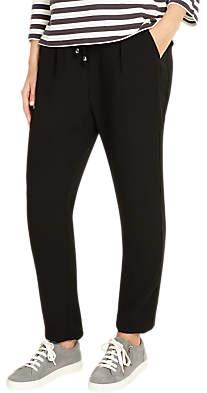 Phase Eight Jayne Satin Stripe Trousers, Black