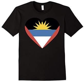 Antigua I love and Barbuda Flag T Shirt Tshirt tee