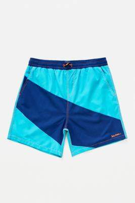 Iets Frans... iets frans... Blue Panelled Swim Shorts - blue S at