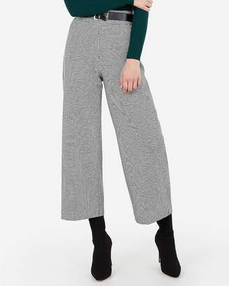 Express High Waisted Houndstooth Culotte Pant