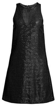Emporio Armani Sleeveless Sequin Shift Dress