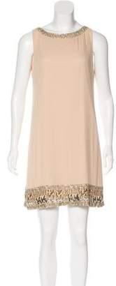 Alice + Olivia Embellished Silk Dress w/ Tags